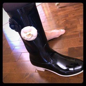 Authentic Chanel Camila rain boots